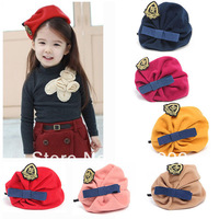Baby Children Kids Hairband Beret Hat Headband College Style Hair Wear 3-15Y  Free shipping &Drop shipping