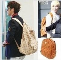 Free shipping Korea Kpop BigBang G-dragon GD SJ TVXQ EXO EMO Punk Rivet Popular Backpack Shoulders Bag backpacks
