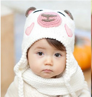 2012 winter baby bear handmade knitted warm hat child hat baby hat