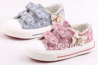 Children's shoes Girls Barbara duck canvas shoes lace shoes 2014 new spring shoes