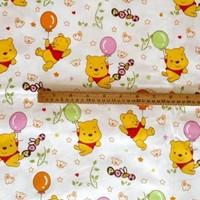 "Colourful Cartoon Baby Bear Comfortable Soft 100% Cotton Fabric 20"" X 63"" FCX52"