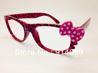 Hello kitty leopard bag flower child children cute bow glasses new glasses