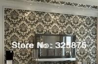 Non-woven Flocking Wallpaper Wall Paper Rolls Non-woven Flocking Wallpaper Wall Paper Rolls For Living Room Bedroom