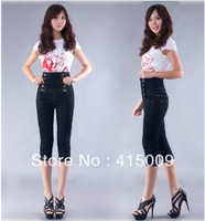 Free shiping 1pcs/bag 2014 new sexy thin waist denim piece pants