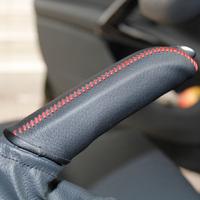 Handicrafts 408 handbrake cover peugeot car sew-on genuine leather handbrake cover handbrake jacket