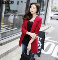 Suit jacket women medium-long plus size slim suit 2014 spring female blazer
