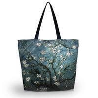 Blossom Tree Foldable Tote Women's Shopping Bag Shoulder Bag Lady Handbag Pouch Washable light Weight W Zipper Closure Pocket