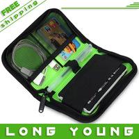 Mobile hard drive bag line card holder usb flash drive bag data cable bag super power pack,free shipping