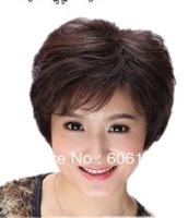 Human hair wig woman short   can breathe  wig --kuze wig