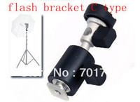 Camera Flash Shoe Umbrella Holder Light Stand Bracket C Type 1/4 3/8 inch
