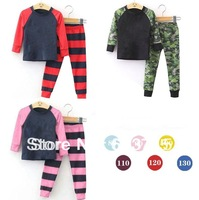 2014 New arrive Girls boys Pajamas Sets Kids Autumn -Summer Clothing Set Wholesale Children Casual long Sleeve Sleepwea