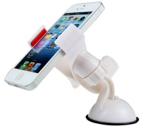 Universal 360degree Car Windshield Mount Holder Bracket for iPhone 4S 5S 5G 5C Note2 3 S3 S4 Htc Smartphone GPS White