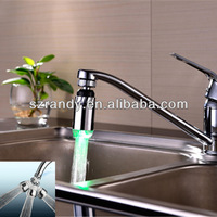Free shipping 360 degree rotating LED faucet aerator drop shipping water power