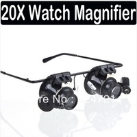 20X Magnifier Magnifying LED Light Glass Loupe Lens Eye Jeweler Watch Repair Freeshipping Dropshipping