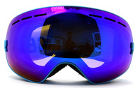 anti-fog dual layer- professional spherical skiing snow goggle double layer ski eyewear;UV protection optical lens comptible