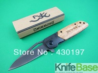 New knife 2013 Browning. X28 Fast opening folding knife 440C 57hrc Carbon + Snake Wood handle hunting knives 5pcs wholesale