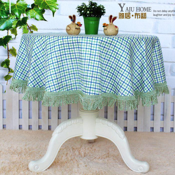 Fashion luxury blue rustic fabric round tablecloth round table cloth table cloth dining table cloth fabric table runner(China (Mainland))