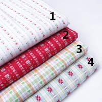 Free shipping 140cmx100cm 100% cotton yarn dyed jacquard grid cloth handmade diy fabric stripe plaid small flower 4 colors