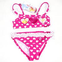 E1346 Girls Kids Cartoon Lovely Princess Bikini Children Baby Two Pieces swimsuit Bathing suit Beachwear Swimwear