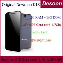 In stock! Newman K18 Original Newman phone Octa core Mtk6592 1.7ghz 2G RAM 13MP 1920*1080 5.0 Ips Support OTG / Linda(China (Mainland))