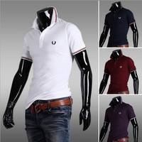 Hot sale 2014 summer short sleeve polo shirt for men fashion short-sleeved casual tops free shipping