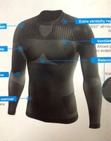 Tights  Men plus velvet thickening basketball basic shirt running  fitness ride compression