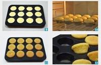 12 Holes cupcake Bakery pans cake Baking tools cupcake kitchenware cookie chocolate mould 2pcs/lot