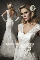 NEW White/Ivory Lace Mermaid Wedding Dress Custom Size 6-8-10-12-14-16++
