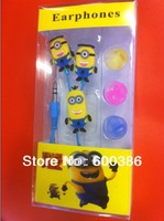 Despicable Me Cartoon Earphones 3.5mm In-ear For MP3/4/Mobile Phone Free Shipping