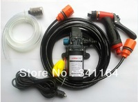 FREE SHIPPING! 2014 portable 12V DC car washing device, cheap car washer set, 60W diaphragm pump, household car washing machine