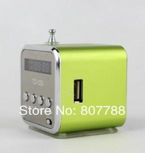 Universal Home Stereo Speaker Mini USB,TF Card Portable Speaker FM Radio Digital Speaker Only USD7.48/pc up to 2pcs(China (Mainland))