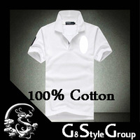 2014 Brand New Fashion Men's Big Size 100% Cotton  Polo Shirts For Men 14 Colors M L XL XXL Men Polo Shirt For Men