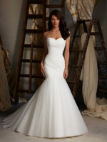 FW012 2014 Fashionable ruffle mermaid wedding dress