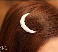 Rhinestone Moon bangs clip hair clips edge clip card issuing hair accessories women fashion