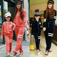 Fashion autumn family 2013 family fashion winter autumn fashion family Women parent-child clothes for mother and daughter
