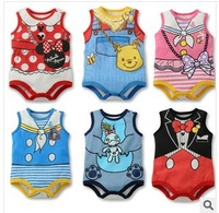 free shipping 3pcs/lot Baby Summer rompers Cute Cartoon  Baby boy/girl cotton jumpsuits/one-pieces baby summer clothing