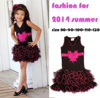 new 2014 fashion girls party dress kids sudress children dresses