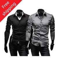 New 2014 Hot sale Free Shipping New Mens Shirts Casual Slim Fit Stylish Mens Dress Shirts High quality shirt