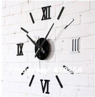 2014 new design wall clock creative Large Roman numerals Living Room wall decoration big size quartz time GZ011 Free Shipping!