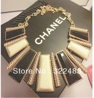 Chunky Statement Chain Link Choker Gold Plated Necklace 2013 Latest Style Jewelry