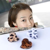 Cute love hearts small hairpin hair caught small leopard / small gripper / bangs clip women fashion hair accessories