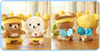 16PCS Plush Stuffed TOY DOLL Kawaii Honey BEE Rilakkuma Bear Stuffed Plush TOY ;  HOME CAR Decor Animal DOLL TOY Figure DOLL