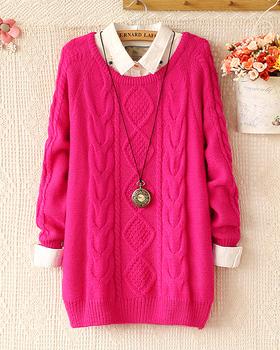 2014 Fashion warm winter pullover women sweater women Vintage Knitwear Long sleeve ...