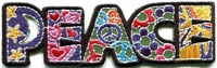 Lovely Peace sign hippie boho retro flower love hippy Iron On Patches, Made of Cloth Guaranteed 100% Quality Free Shipping!!