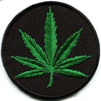 Marijuana leaf pot weed grass ganja hippie boho retro Iron On Patches, Made of Cloth Guaranteed 100% Quality Free Shipping!!