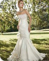 Elegant White/Ivory Mermaid Wedding Dress Custom Size 2-4-6-8-10-12-14-16