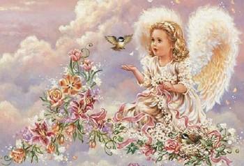 2014 новый высший сорт 100% печатных - комплекты цветы ангел комплект для вышивания ...