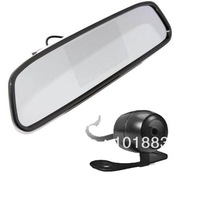 "4.3"" LCD Mirror Monitor + Mini Car Rear View Reverse Backup Camera 170 degree"