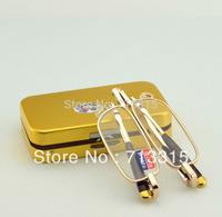 Steel case slim narrow portable folding golden metal frame reading glasses+1 +1.5 +2 +2.5 +3 +3.5 +4  +1 +1.5 +2 +2.5 +3 +3.5 +4