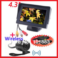 "Car Rear view Kit 4.3"" TFT LCD SCREEN Monitor +  Wireless Waterproof Reversing backup camera wide angle 170"
